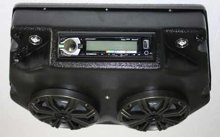 rzr 570 800 stereo console 2008 2015 with kicker speakers. Black Bedroom Furniture Sets. Home Design Ideas