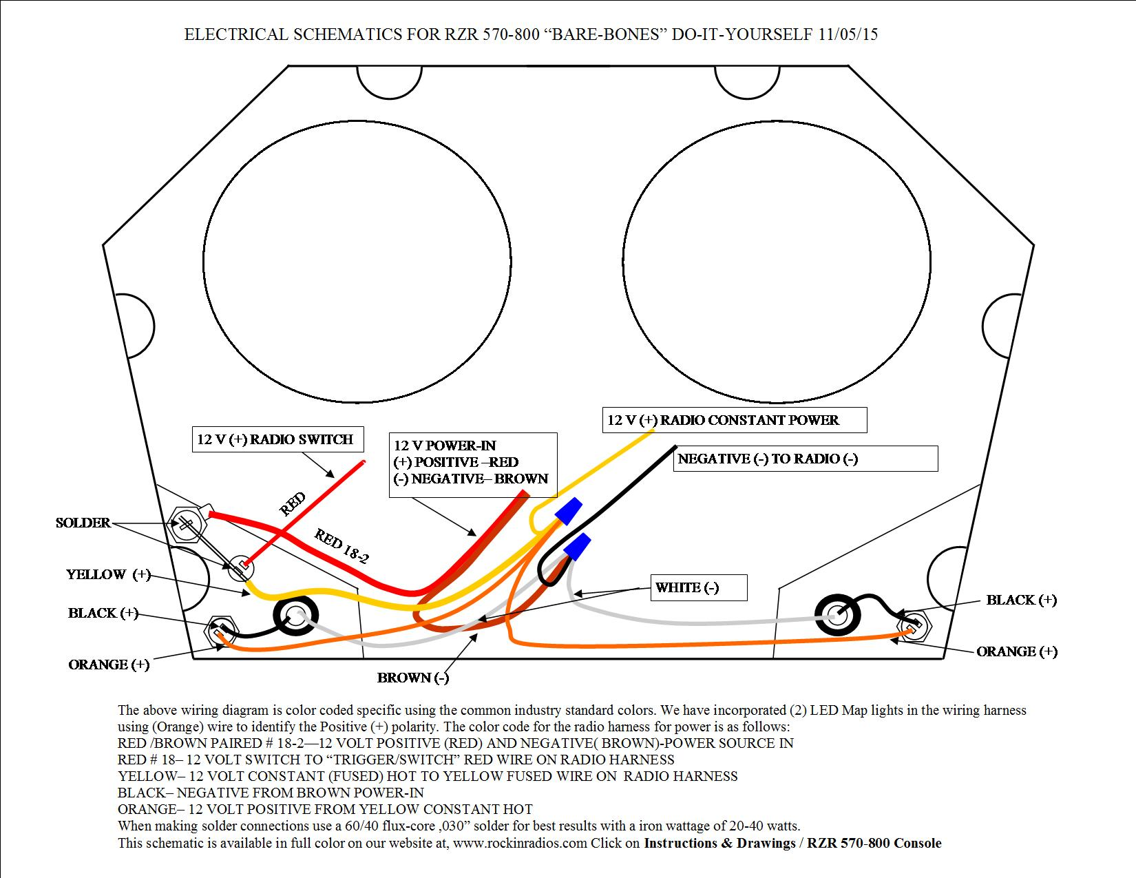 rzr 570 800 instruction ,drawings, wiring diagram RZR 800 Rock Crawler