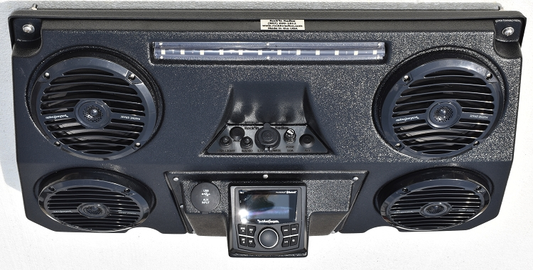 Quad Pod with Rockford Fosgate AM/FM Radio and KICKER Speakers Kicker Golf Cart Radio Html on