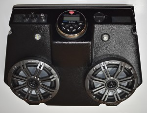 RZR 570-800 STEREO CONSOLE 2008-2020 with Marine AM/FM & KICKER SPEAKERS!